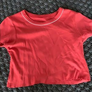 Brandy Melville red cropped tee-shirt